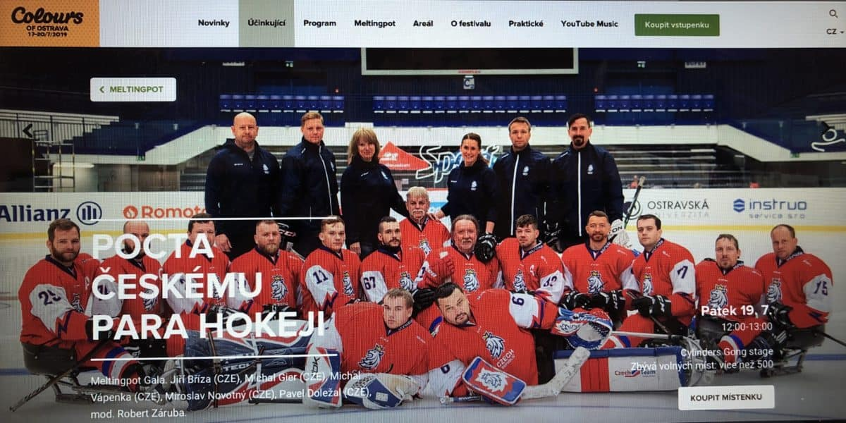 Para Hokejisté Na Colours Of Ostrava!!!